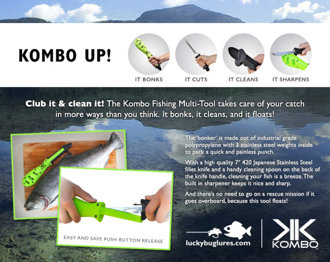 Kombo up! 4 in 1 fishing multi tool