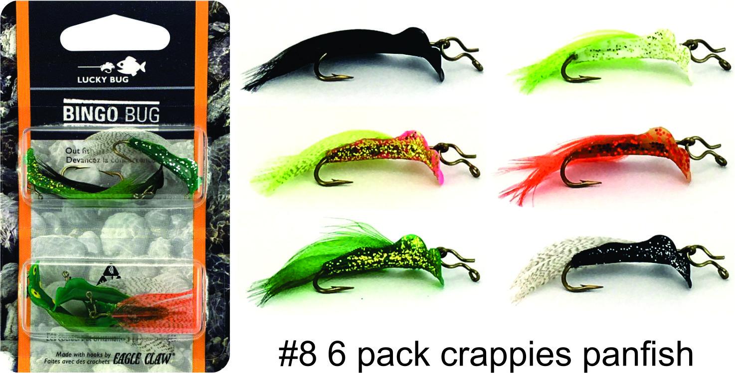 #8 Bingo Bug 6-Pack - Crappies/Panfish Combo